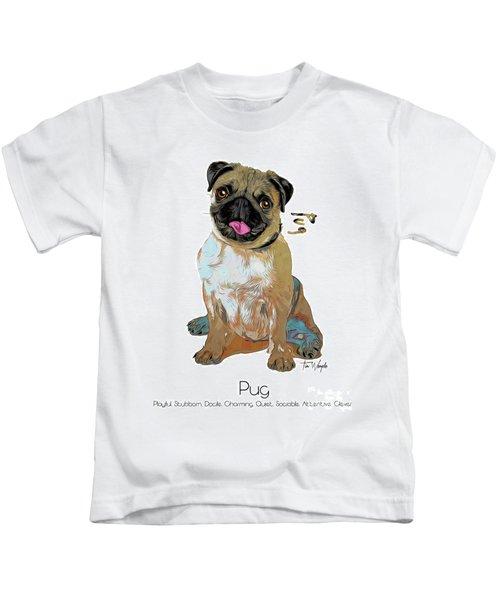 Pug Pop Art Kids T-Shirt