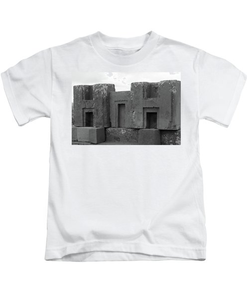 Puma Punku H Blocks, Bolivia Kids T-Shirt