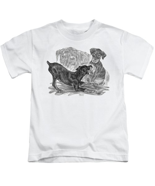 Puppy Love - Doberman Pinscher Pup Kids T-Shirt