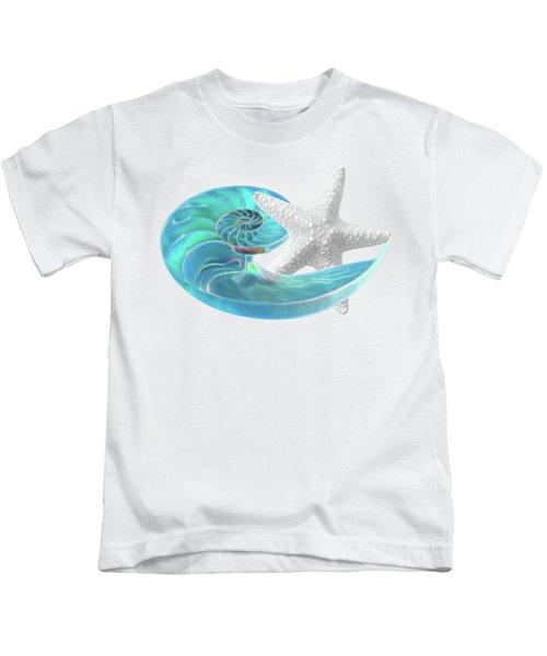 Pure Joy - Starfish With Nautilus Shell Kids T-Shirt