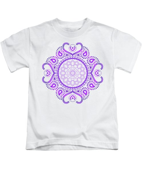 Purple Lotus Mandala Kids T-Shirt