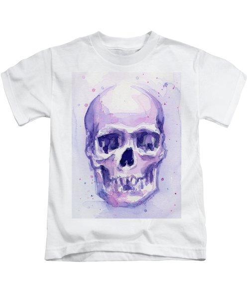 Purple Skull Kids T-Shirt