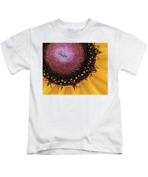 Purple Spirals Kids T-Shirt