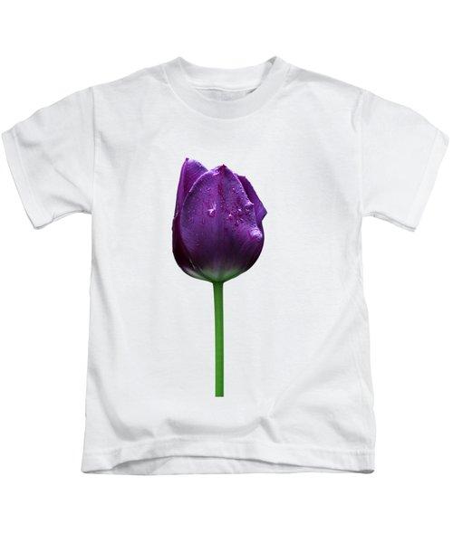 Purple Tulip T Kids T-Shirt