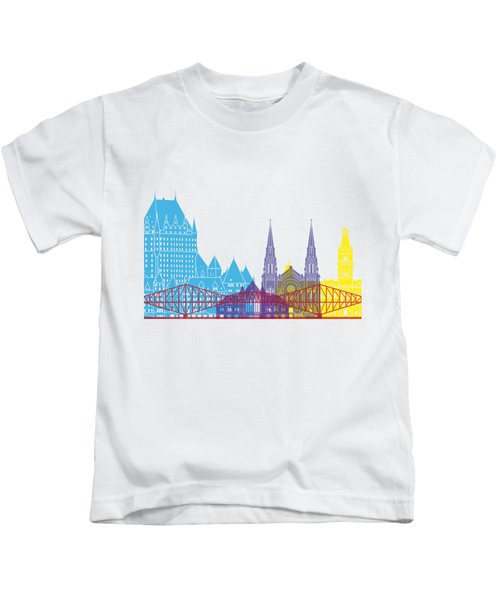 Quebec Skyline Pop Kids T-Shirt