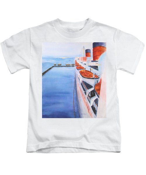 Queen Mary From The Bridge Kids T-Shirt