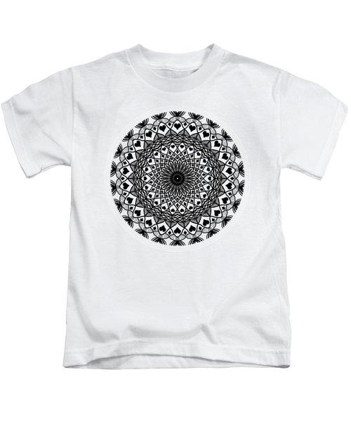 Queen Of Hearts King Of Diamonds Mandala Kids T-Shirt