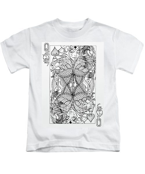 Queen Of Spades  Kids T-Shirt