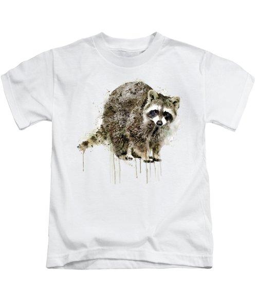 Raccoon Kids T-Shirt by Marian Voicu