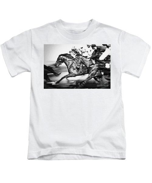 Racing Horses Kids T-Shirt