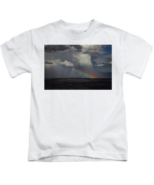Rainbow Storm Over The Verde Valley Arizona Kids T-Shirt