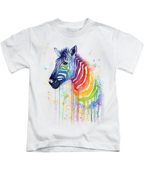 Rainbow Zebra - Ode To Fruit Stripes Kids T-Shirt