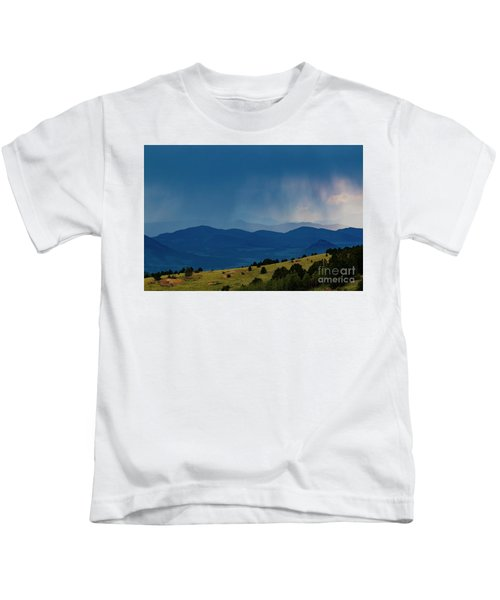 Rainstorm On The Collegiate Peaks Kids T-Shirt