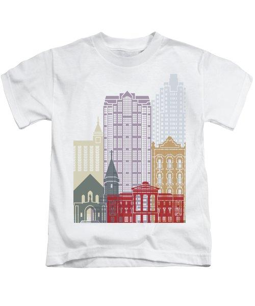 Raleigh V2 Skyline Poster Kids T-Shirt