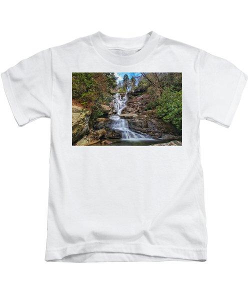 Ramsey Cascades - Tennessee Waterfall Kids T-Shirt