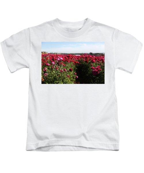 Ranunculus Field Kids T-Shirt