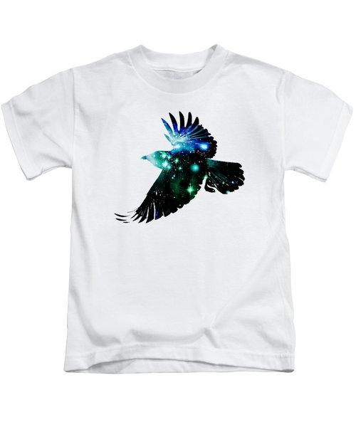 Raven Kids T-Shirt by Anastasiya Malakhova