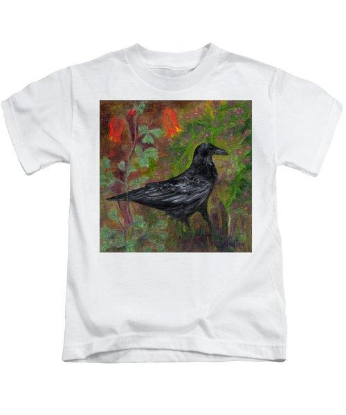 Raven In Columbine Kids T-Shirt