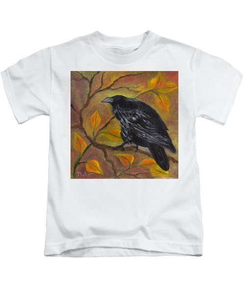 Raven On A Limb Kids T-Shirt