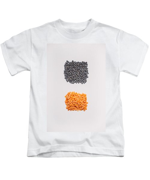 Red And Black Lentils Kids T-Shirt