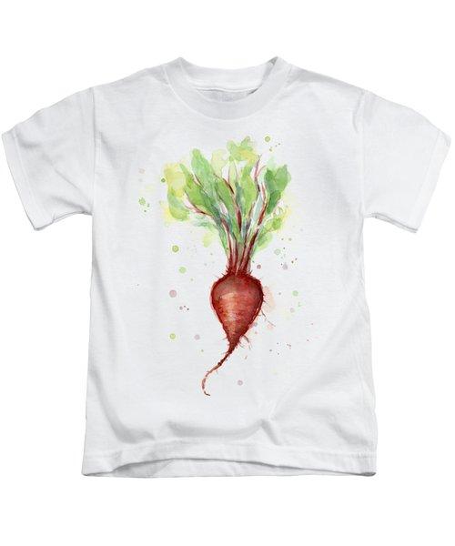 Red Beet Watercolor Kids T-Shirt