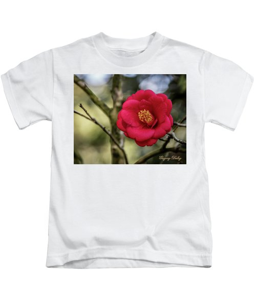 Red Camelia 05 Kids T-Shirt