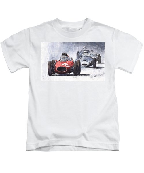 Red Car Ferrari D426 1958 Monza Phill Hill Kids T-Shirt
