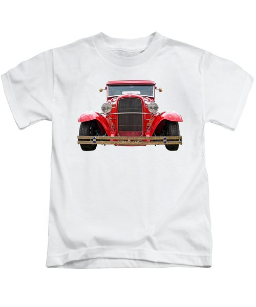 Red Ford Coupe Head On Kids T-Shirt
