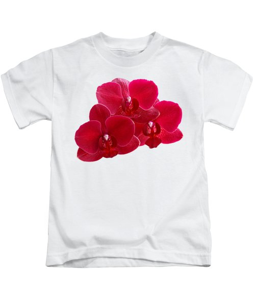 Red Orchid Trio Kids T-Shirt