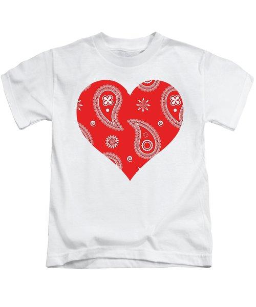 Red Paisley Kids T-Shirt