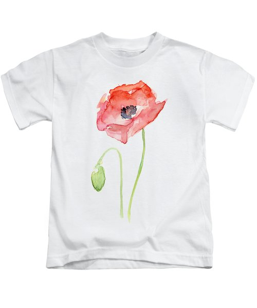 Red Poppy Kids T-Shirt