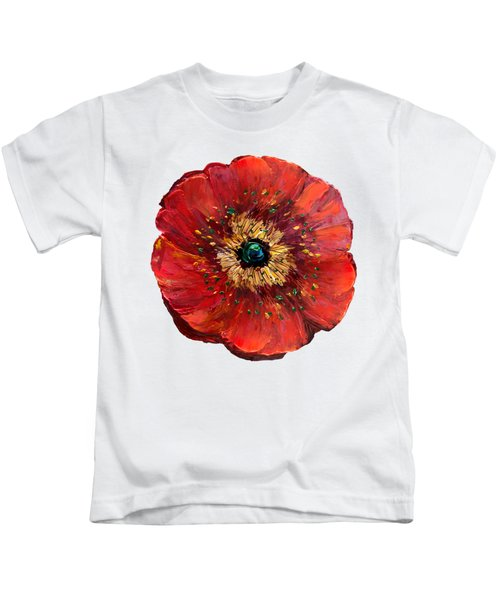 Red Poppy Transparent  Kids T-Shirt
