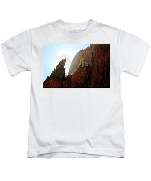 Red Rock At Zion Kids T-Shirt
