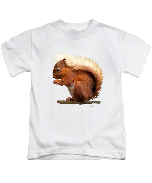 Red Squirrel Kids T-Shirt by Bamalam  Photography