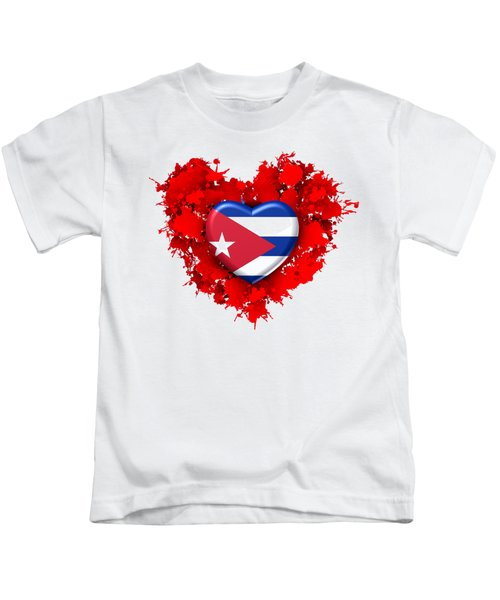 Red Stain Love To Cuba Kids T-Shirt