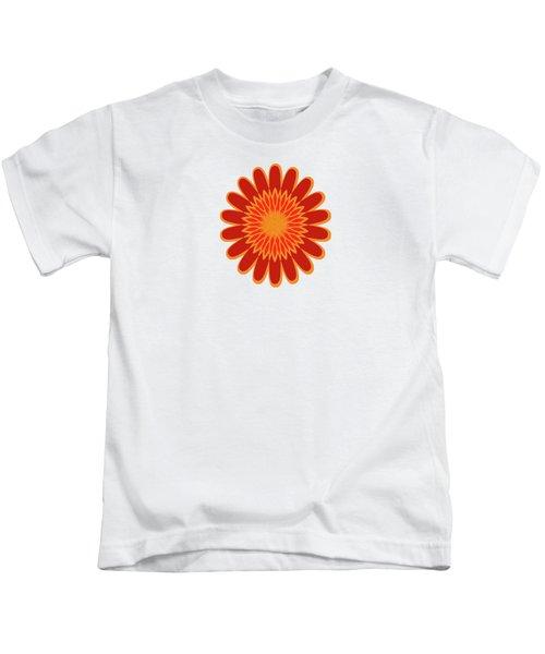 Red Sunflower Pattern Kids T-Shirt