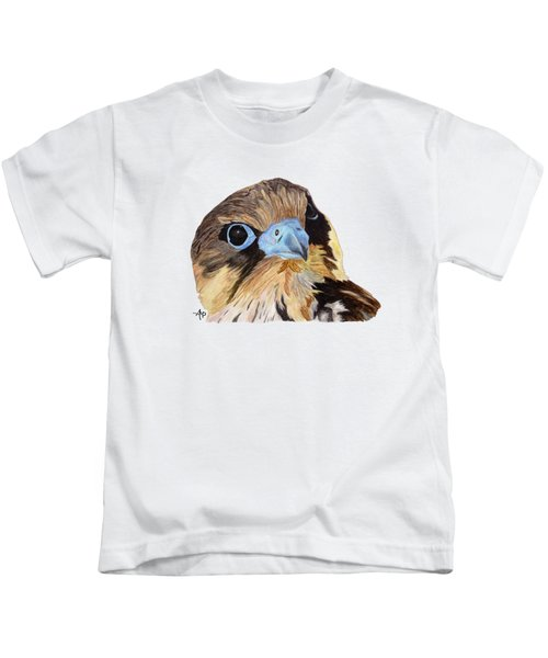 Red-tailed Hawk Portrait Kids T-Shirt