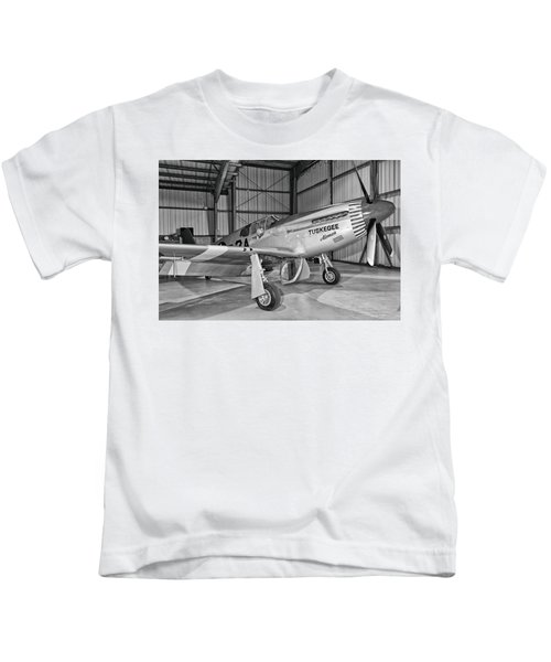 Red Tails Mustang Kids T-Shirt