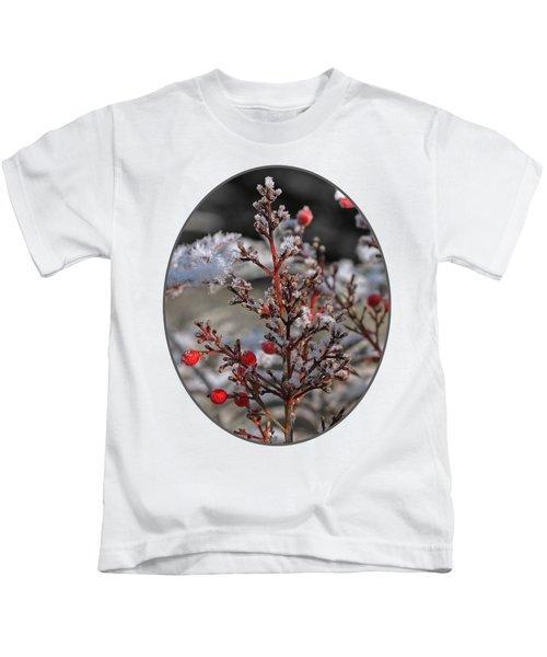 Red Winter Berries Of Nandia Domestica Kids T-Shirt