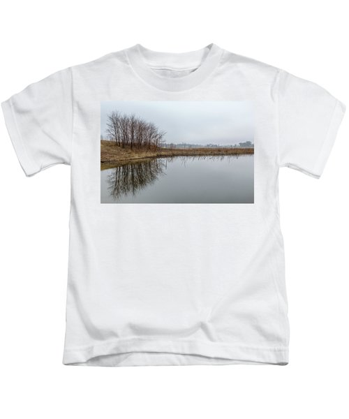 Reflected Trees Kids T-Shirt