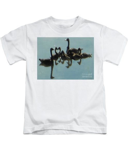 Reflection Of Geese Kids T-Shirt