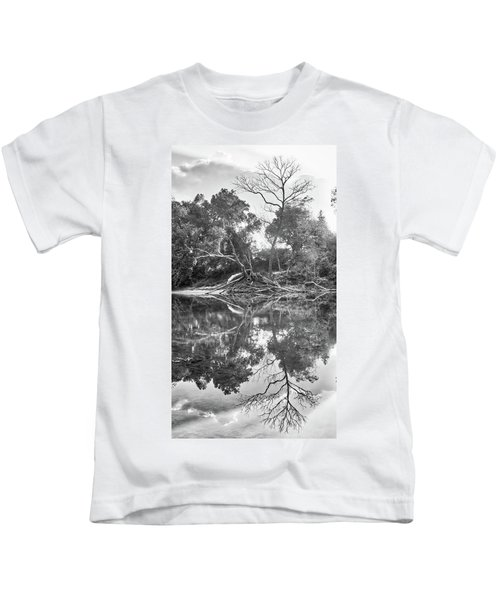 Reflections In Black And White Kids T-Shirt