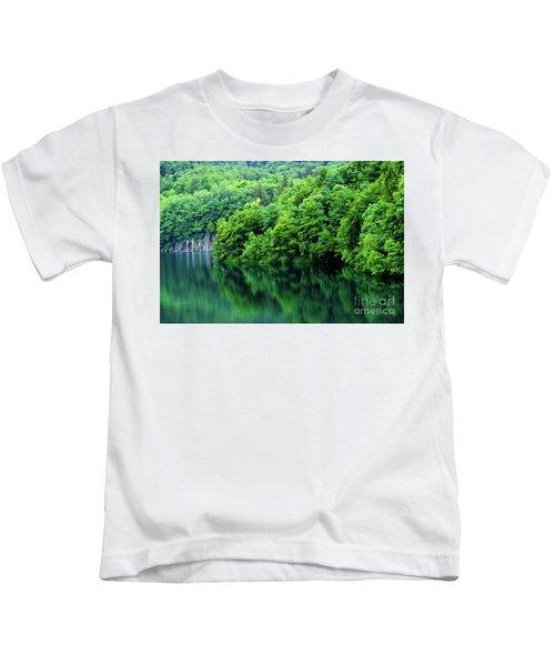 Reflections Of Plitvice, Plitvice Lakes National Park, Croatia Kids T-Shirt