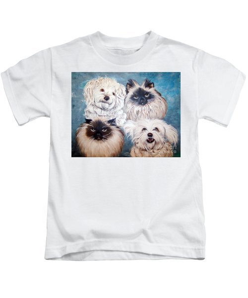 Reigning Cats N Dogs Kids T-Shirt