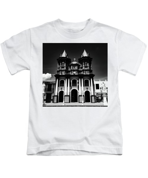 Replica Church In El Penol Kids T-Shirt