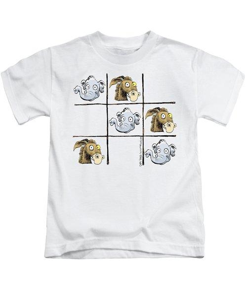 Republicans Win Tic Tac Toe Kids T-Shirt
