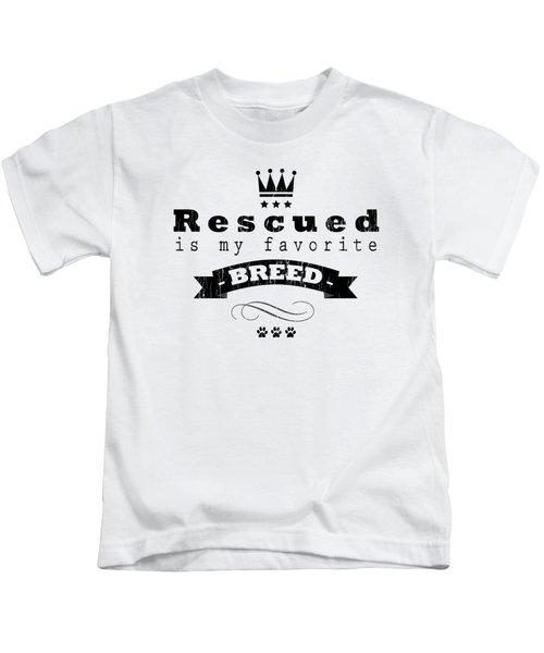 Rescued Crown Dark Kids T-Shirt