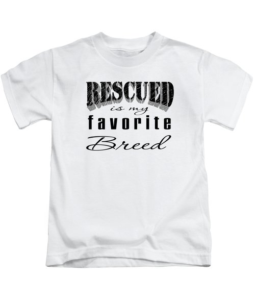 Rescued Pencil Dark Kids T-Shirt