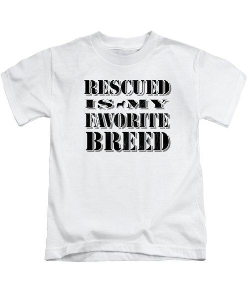 Rescued Stencil  Kids T-Shirt