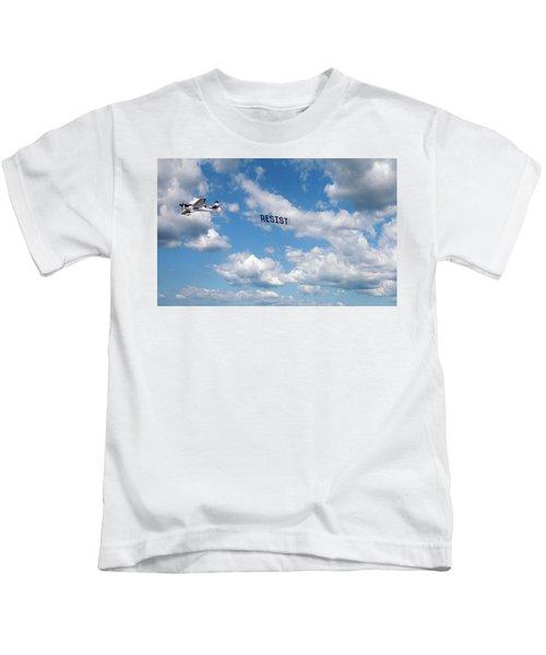Resist Airplane Kids T-Shirt